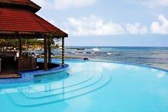 Piscina tropical de la isla Foto de archivo libre de regalías