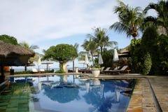 Piscina tropical del hotel, Bali Fotografía de archivo