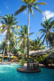 Piscina tropicale immagini stock