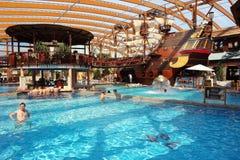 Piscina y nave vieja en aquapark Imágenes de archivo libres de regalías