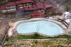 Piscinas al aire libre de las aguas termales Fotografía de archivo libre de regalías