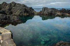 Piscinas de agua naturales en Garachico Fotos de archivo libres de regalías
