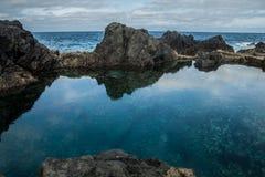 Piscinas de agua naturales en Garachico Foto de archivo libre de regalías