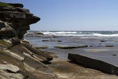 Piscinas de la roca en el promontorio, Caloundra Fotos de archivo libres de regalías