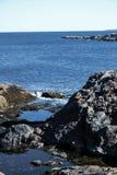 Piscinas de marea en parque nacional del Acadia foto de archivo libre de regalías
