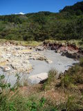 Piscinas del azufre en Rincon, Costa Rica Fotografía de archivo libre de regalías