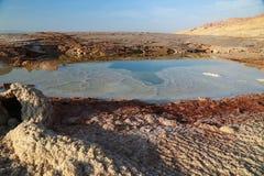 Piscinas en el área de mar muerta Foto de archivo