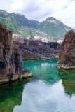Piscinas naturais em Porto Moniz fotografia de stock royalty free