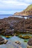 Piscinas naturais em Porto Moniz imagens de stock