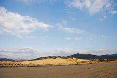 Piscinas sand dunes in Sardinia Stock Images