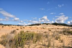 Piscinas, Sardegna fotos de stock