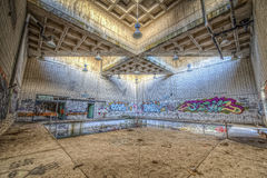 Piscine abandonnée Photographie stock