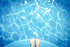 Piscine bleue Photo libre de droits