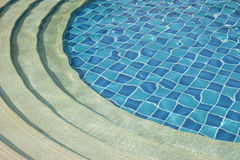 Piscine bleue Images libres de droits