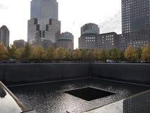 Piscine commémorative New York Manhattan d'infini Photo stock