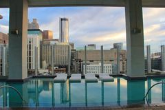 Piscine d'hôtel d'Atlanta Photo libre de droits