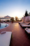 Piscine d'hôtel de luxe Image stock