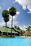 Piscine d'hôtel de ressource de la Thaïlande Photo libre de droits