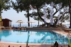 Piscine d'hôtel en Turquie Photos stock
