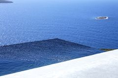 Piscine d'infini, mer Égée Photos libres de droits