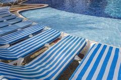 Piscine dans Cancun, Maya de la Riviera, Mexique Images libres de droits