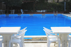 Piscine dans la station de vacances de piscine d'hôtel Images stock