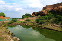 Piscine de paysage de port Photo libre de droits