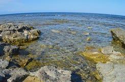 Piscine de roche, Rocky Cove Photo libre de droits