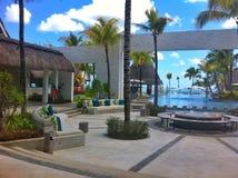 piscine de station de vacances tropicale d'hôtel Images libres de droits
