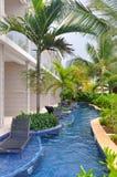 Piscine de station de vacances de Royalton Jamaïque images stock
