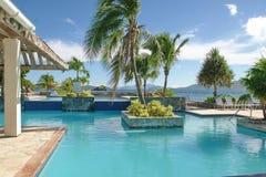 Piscine des Caraïbes sur St Thomas, Îles Vierges américaines Images libres de droits