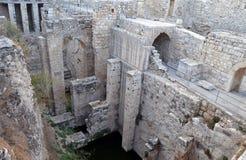 Piscine des ruines antiques de Bethesda photographie stock