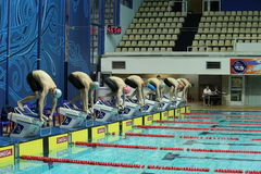 Piscine des sports complexes Photos stock