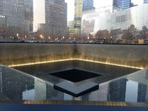 Piscine du sud de 9/11 mémorial Photo stock