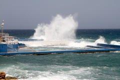 Piscine en mer Image libre de droits