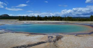 Piscine en parc national Yellowstone Images stock