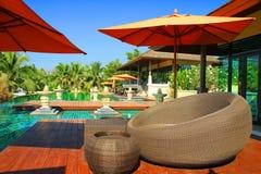 Piscine et type de Bali Photo stock