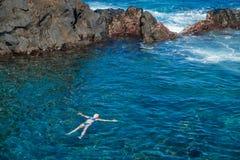 Piscine naturali sull'isola di Tenerife Fotografia Stock