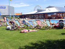 Piscine, Skegness, le Lincolnshire Photographie stock