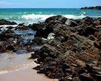 Piscines de basalte, horizontales Image libre de droits