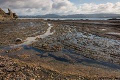 Piscines de roche chez Omaha Bay Image libre de droits