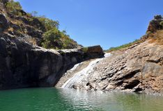 Piscines de roche : Serpentine Falls, Australie occidentale Photos stock