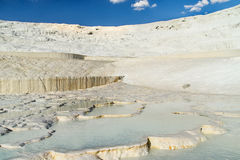 Piscines de travertin et terrasses naturelles, Pamukkale Image stock