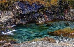 Piscines féeriques, petite rivière Photo stock