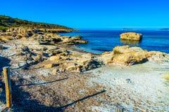 Piscinni besch w południowym Sardinia Zdjęcie Stock