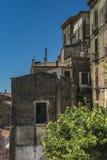 Pisciotta, Cilento, Italia Pequeño pueblo medieval Foto de archivo libre de regalías