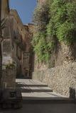 Pisciotta, Cilento, Italia Pequeño pueblo medieval Imágenes de archivo libres de regalías