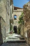 Pisciotta, Cilento, Italia Pequeño pueblo medieval Fotografía de archivo libre de regalías