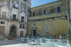 Pisciotta, Cilento, Italia Pequeño pueblo medieval Fotos de archivo