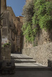 Pisciotta, Cilento, Italy. Small medieval village. royalty free stock images